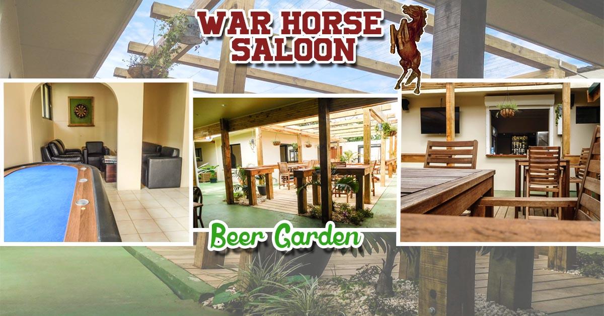 Saloon bar beer garden