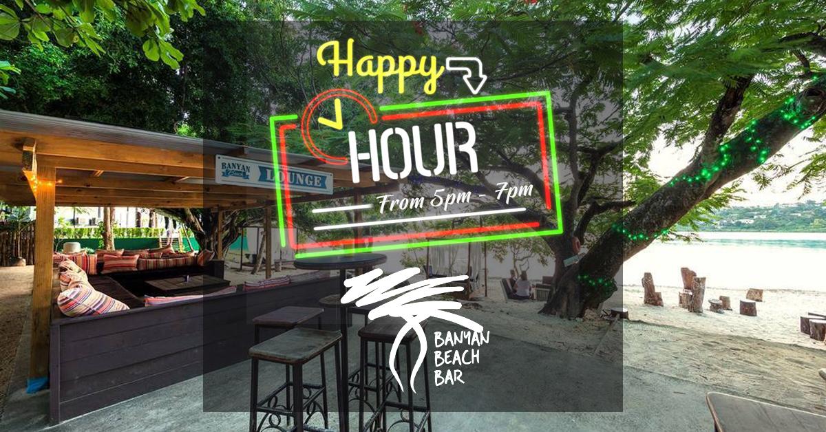 Banyan Beach Bar Happy Hour