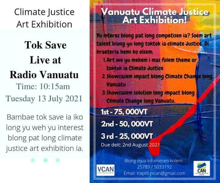 Vanuatu Climate Justice Arts Exhibition - Live Radio Vanuatu 2