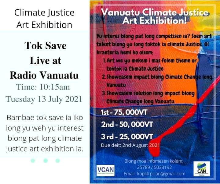 Vanuatu Climate Justice Arts Exhibition - Live Radio Vanuatu 3