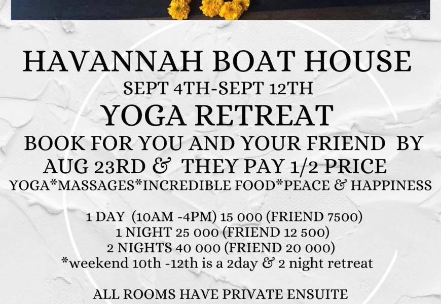 Yoga Retreat - Havannah Boat House 1